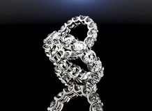 χρυσό δαχτυλίδι διαμαντι ανασκόπησης μαύρο ασήμι κοσμήματος υφάσματος χρυσό Στοκ εικόνες με δικαίωμα ελεύθερης χρήσης