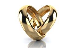Χρυσό δαχτυλίδι που απομονώνεται στο άσπρο υπόβαθρο απεικόνιση αποθεμάτων