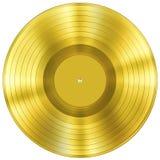 Χρυσό βραβείο μουσικής δίσκων που απομονώνεται Στοκ φωτογραφία με δικαίωμα ελεύθερης χρήσης
