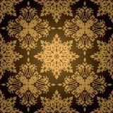 χρυσό γοτθικό φύλλο απεικόνιση αποθεμάτων