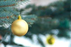 χρυσό δέντρο παιχνιδιών στοκ εικόνες