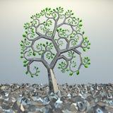 χρυσό δέντρο τμημάτων στοιχ& Στοκ εικόνα με δικαίωμα ελεύθερης χρήσης