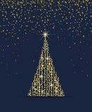 χρυσό δέντρο Χριστουγέννων Στοκ Εικόνα