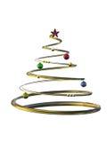 χρυσό δέντρο Χριστουγέννων Στοκ Εικόνες