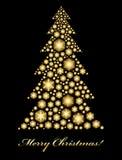 χρυσό δέντρο Χριστουγέννω& Στοκ φωτογραφίες με δικαίωμα ελεύθερης χρήσης