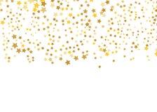 Χρυσό διάνυσμα αστεριών Λάμψτε σχέδιο κομφετί Μειωμένα λαμπρά αστέρια Χρυσή έναστρη τυπωμένη ύλη σχέδιο απλό ελεύθερη απεικόνιση δικαιώματος