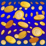 χρυσό διάνυσμα βροχής Στοκ Εικόνα