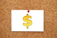 Χρυσό δολάριο σημειώσεων Στοκ φωτογραφία με δικαίωμα ελεύθερης χρήσης
