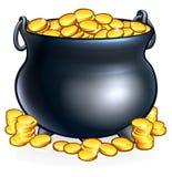 χρυσό δοχείο νομισμάτων απεικόνιση αποθεμάτων