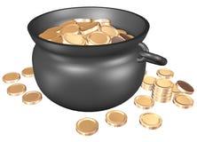χρυσό δοχείο Στοκ εικόνες με δικαίωμα ελεύθερης χρήσης