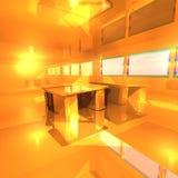 χρυσό δωμάτιο Στοκ φωτογραφία με δικαίωμα ελεύθερης χρήσης