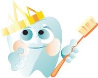 χρυσό δόντι κορωνών Διανυσματική απεικόνιση