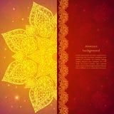 Χρυσό εθνικό ινδικό υπόβαθρο Στοκ Εικόνες