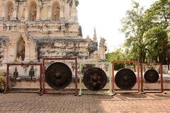 χρυσό ειρηνικό σύμβολο Ταϊλάνδη του Βούδα Στοκ Εικόνα