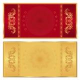 Χρυσό εισιτήριο, απόδειξη, πιστοποιητικό δώρων, δελτίο Στοκ Εικόνες