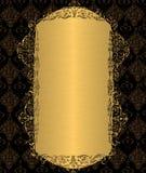 Χρυσό εκλεκτής ποιότητας πλαίσιο Στοκ Εικόνες