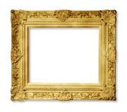 Χρυσό εκλεκτής ποιότητας πλαίσιο που απομονώνεται Στοκ Φωτογραφίες