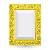 Χρυσό εκλεκτής ποιότητας πλαίσιο Στοκ Εικόνα