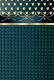 Χρυσό εκλεκτής ποιότητας υπόβαθρο καρδιών Στοκ φωτογραφία με δικαίωμα ελεύθερης χρήσης