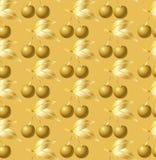Χρυσό εκλεκτής ποιότητας υπόβαθρο κερασιών Στοκ Εικόνα