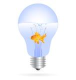 χρυσό ελαφρύ διάνυσμα ψαρ&io διανυσματική απεικόνιση