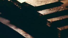 Χρυσό εργοστάσιο βιομηχανίας πλινθωμάτων χρυσό απόθεμα βίντεο