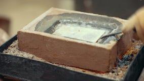 Χρυσό εργοστάσιο μεταλλείας πλινθωμάτων καυτό απόθεμα βίντεο
