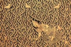 Χρυσό εσωτερικό του αγγέλου, floral, και των κουνελιών Στοκ φωτογραφία με δικαίωμα ελεύθερης χρήσης