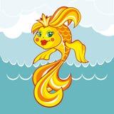 χρυσό λευκό απομόνωσης ψαριών επίσης corel σύρετε το διάνυσμα απεικόνισης Στοκ Εικόνες