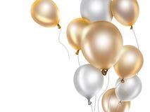 χρυσό λευκό μπαλονιών απεικόνιση αποθεμάτων