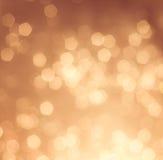 Χρυσό ελαφρύ υπόβαθρο bokeh Στοκ φωτογραφίες με δικαίωμα ελεύθερης χρήσης