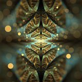 Χρυσό ελλειπτικό διασπασμένο fractal Bokeh Στοκ εικόνα με δικαίωμα ελεύθερης χρήσης