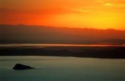 χρυσό ηλιοβασίλεμα του Περού Στοκ φωτογραφίες με δικαίωμα ελεύθερης χρήσης