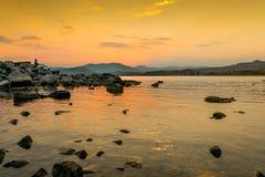 χρυσό ηλιοβασίλεμα Στοκ Φωτογραφία