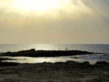 χρυσό ηλιοβασίλεμα Στοκ Εικόνα