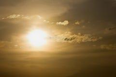 χρυσό ηλιοβασίλεμα Στοκ Εικόνες