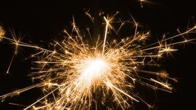 Χρυσό θάψιμο sparkler απόθεμα βίντεο