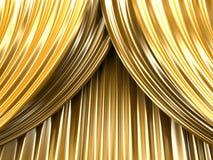 χρυσό θέατρο κουρτινών Στοκ φωτογραφίες με δικαίωμα ελεύθερης χρήσης