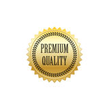 Χρυσό διάνυσμα διακριτικών εξαιρετικής ποιότητας στοκ εικόνες με δικαίωμα ελεύθερης χρήσης
