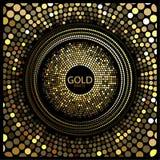 Χρυσό διάνυσμα κομμάτων Στοκ εικόνες με δικαίωμα ελεύθερης χρήσης