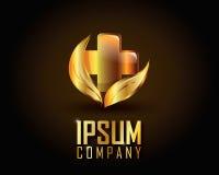 Χρυσό διάνυσμα λογότυπων Στοκ εικόνα με δικαίωμα ελεύθερης χρήσης