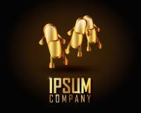 Χρυσό διάνυσμα λογότυπων Στοκ φωτογραφίες με δικαίωμα ελεύθερης χρήσης