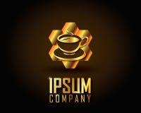 Χρυσό διάνυσμα λογότυπων Στοκ Εικόνα