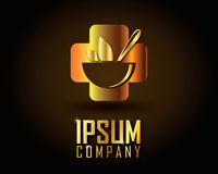 Χρυσό διάνυσμα λογότυπων Στοκ εικόνες με δικαίωμα ελεύθερης χρήσης