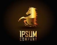 Χρυσό διάνυσμα λογότυπων Στοκ φωτογραφία με δικαίωμα ελεύθερης χρήσης