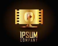 Χρυσό διάνυσμα λογότυπων Στοκ Εικόνες