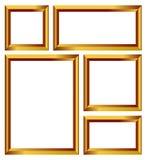 Χρυσό διάνυσμα πλαισίων Στοκ Εικόνες