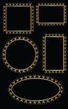 Χρυσό διάνυσμα σχεδίου πλαισίων Στοκ φωτογραφία με δικαίωμα ελεύθερης χρήσης