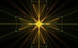 Χρυσό διαγώνιο έμβλημα Στοκ Φωτογραφία
