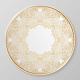 Χρυσό διακοσμητικό πιάτο Στοκ Εικόνα